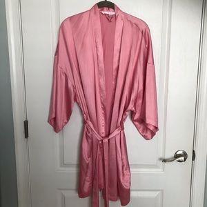 Victoria's Secret Pink Satin Robe Small